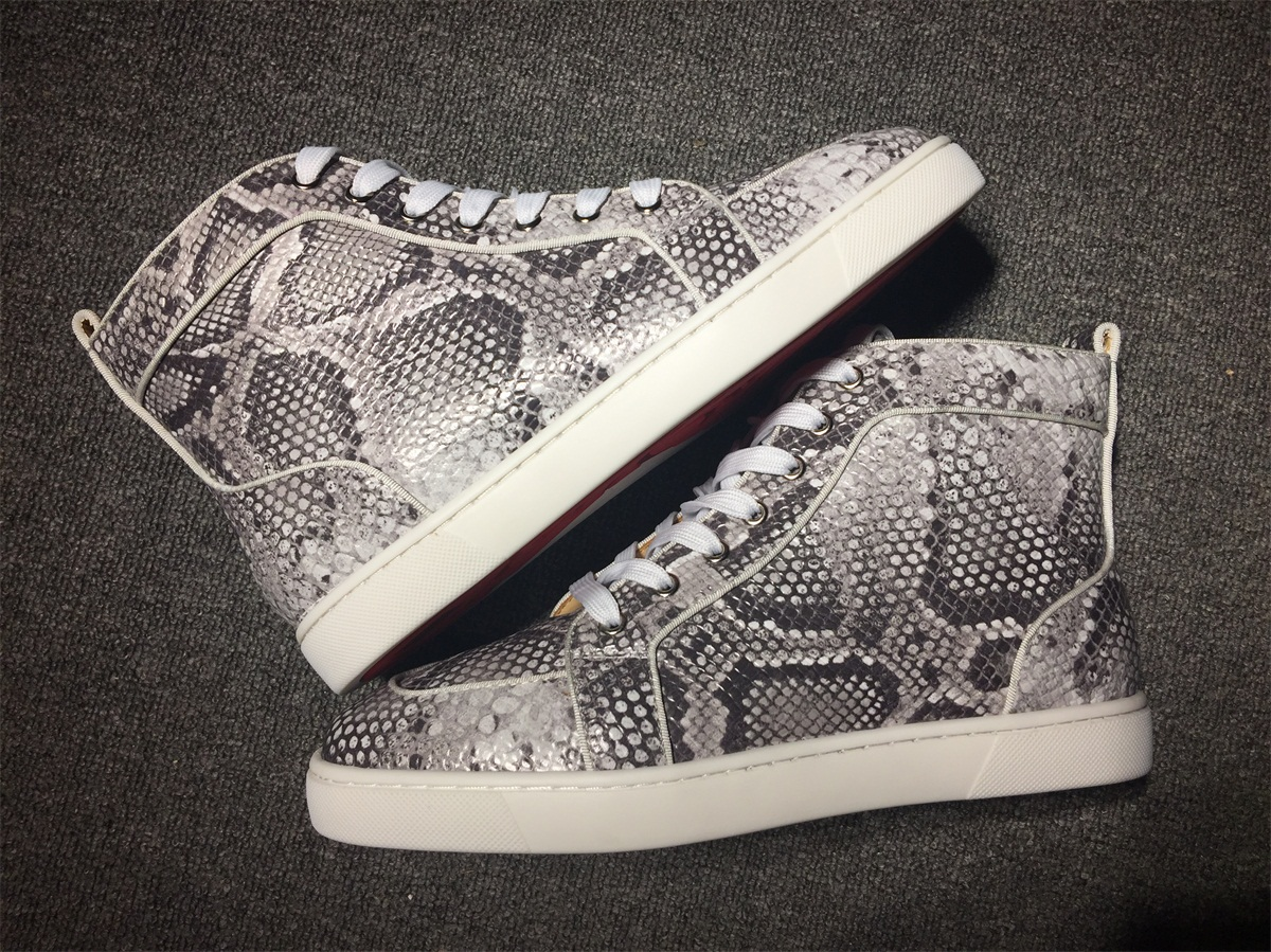 on sale 4c432 e978e Christian Louboutin Python High Top Flats Men Sneakers