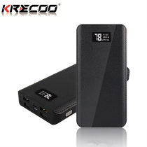 KRECOO Portable Power Bank 20000mAh External Power Bank 4 USB LCD Display Battery Charger Supply Charge for iPhone,iPad & Samsung Galaxy & More