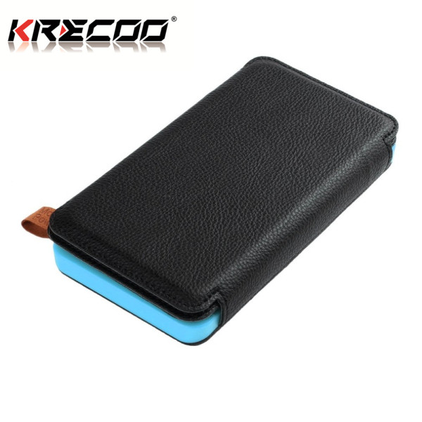KRECOO Portable Power Banks 20000mAh Compact Battery Pack Solar Power Dual USB LCD External Backup Battery Charge for iPhone,iPad & Samsung Galaxy & More