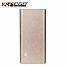 KRECOO Portable Power Bank 20000mAh External Battery Pack Ultra Thin Cell Phone Charger Flash Lights Charge For iPhone,iPad & Samsung Galaxy & More
