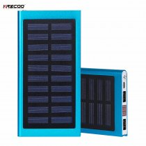 KRECOO Portable Solar Power Bank 20000mAh External Battery Pack High Capacity Solar Phone Portable Charger For iPhone,IPad & Samsung Galaxy & More