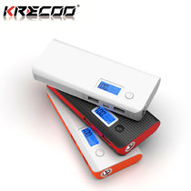 KRECOO Portable Power Banks 20000mAh External Mobile Charger High Capacity Power Bank Dual USB with LCD Display Charge For iPhone,iPad & Samsung Galaxy & More