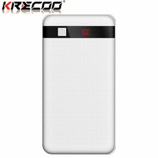 KRECOO Portable Power Bank 20000mAh External Power Bank High Capacity Dual USB with Flashlight Charge for iPhone,iPad & Samsung Galaxy & More