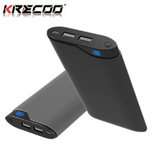 KRECOO Portable Power Bank 20000mAh External Battery Pack High Capacity 2 USB Powercore with Double Flash Lights Charge for iPhone,iPad & Samsung Galaxy & More