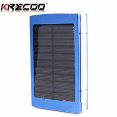 KRECOO Portable Power Banks 20000mAh External Mobile Solar Batteries Dual USB Flashlight Charge for iPhone,iPad & Samsung Galaxy & More