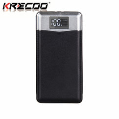 KRECOO Portable Power Bank 20000mAh External Battery Pack High Capacity Double Flash Lights Charge For iPhone,iPad & Samsung Galaxy & More