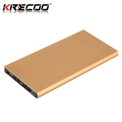 KRECOO Portable Power Bank 20000mAh External Power Bank Dual USB with Led Flashlights Charge for iPhone,iPad & Samsung Galaxy & More