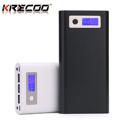 KRECOO Portable Power Banks 20000mAh External Battery Pack 3 USB Dual LED Flashlight with LCD Display Mobile Power Charger for iPhone,iPad & Samsung Galaxy & More
