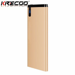 KRECOO Portable Power Bank 20000mAh External Backup Battery Ultra Slim Mobile Charger Smart Charge for iPad iPhone Android Cell Phones Samsung LG Sony Nokia &Others