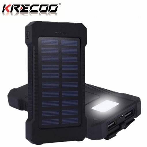 KRECOO Portable Power Bank 20000mAh External Waterproof Battery Charger Dual USB Port Smart Charge for Phone iPhone,iPad & Samsung Galaxy & More