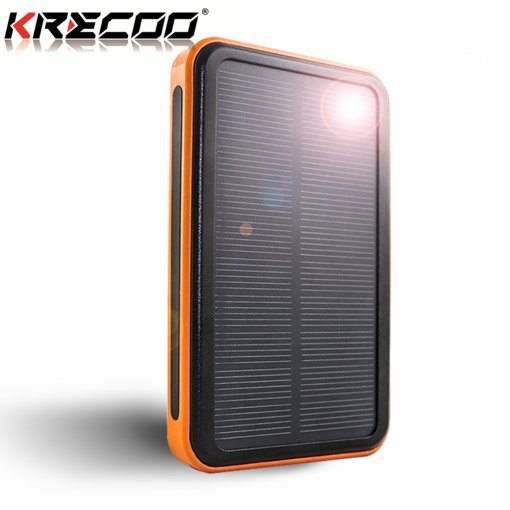 KRECOO Portable Power Banks 20000mAh External Mobile Charger Dual USB Flashlight Charge for iPhone, iPad, Galaxy S8 and other Smart Devices24
