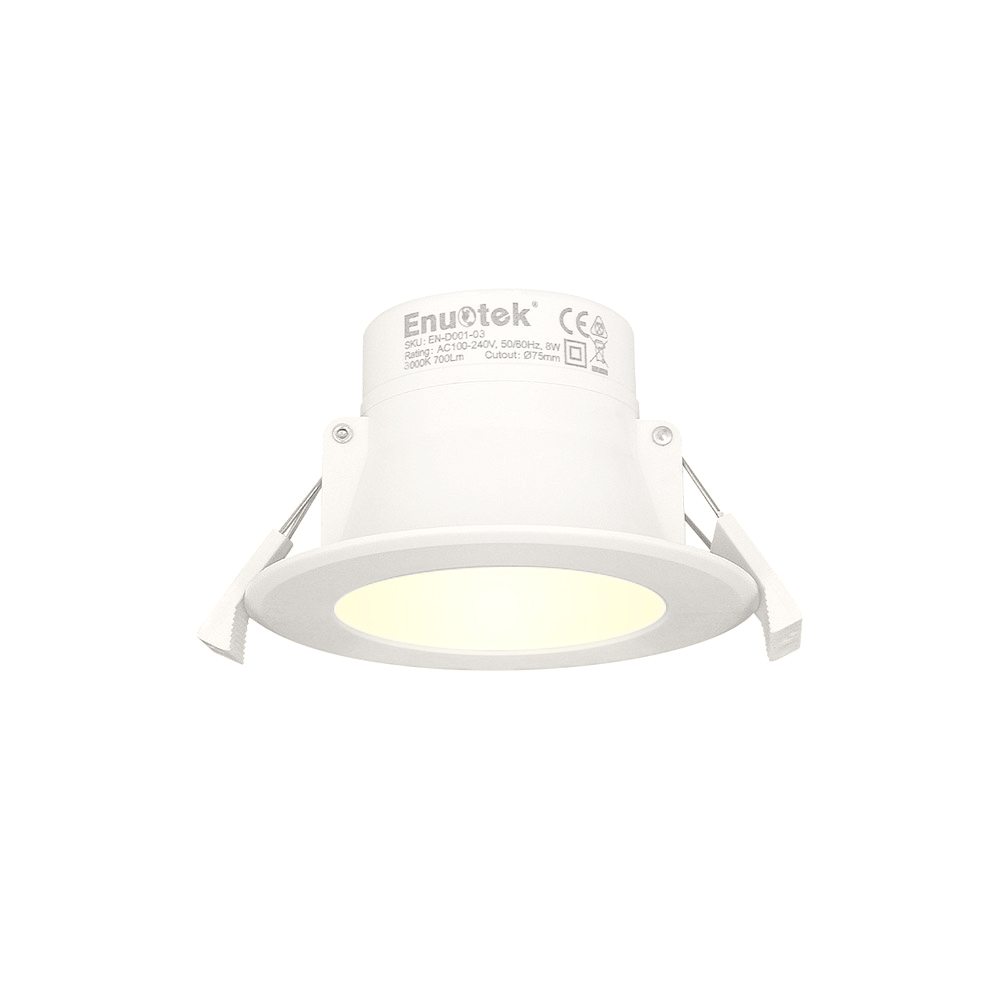 buy popular 7640f fe6fc LED Small Recessed Ceiling Downlight Recessed Ceiling Lamp 8W 3000K Warm  White Cut Hole 70-85MMΦ AC100~240V IP44 for Bathroom Kitchen
