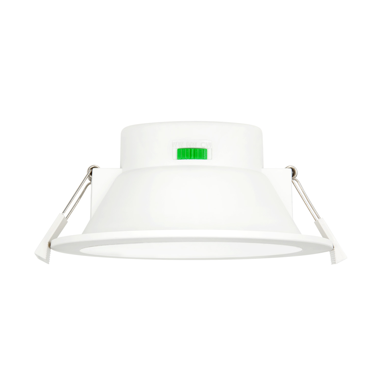 Dimmable 12w ceiling recessed led downlights ceiling lamps 3000k 4000k 5000k lighting color adjustable 220v 240v ceiling hole diameter 120 140mm ip44