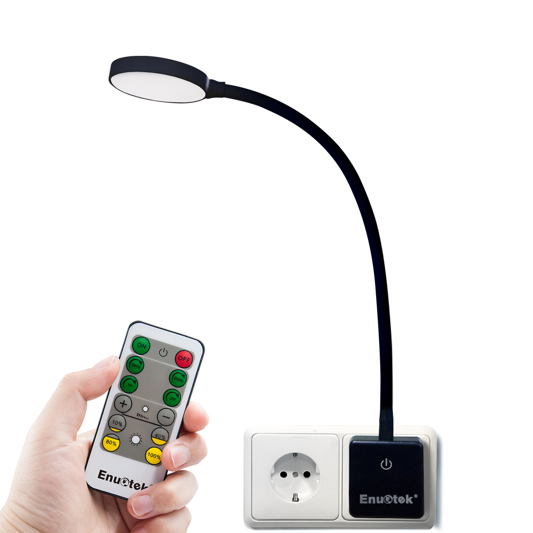 Plug In Remote Control Dimmable Led Wall Night Light Swing Arm Led