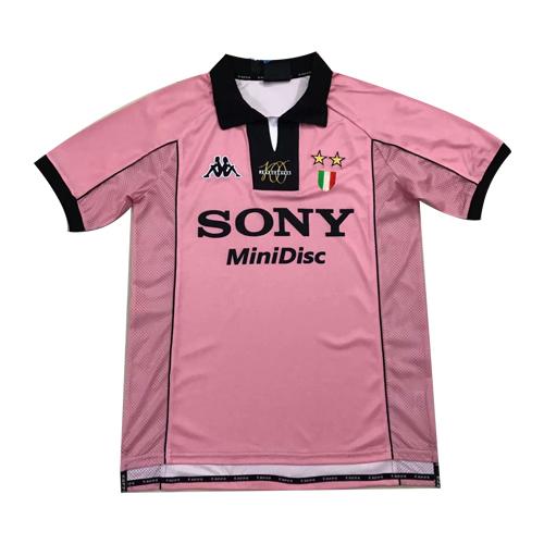 info for 2b73b 0a7f9 97-98 Juventus Away Pink Soccer Retro Jerseys Shirt