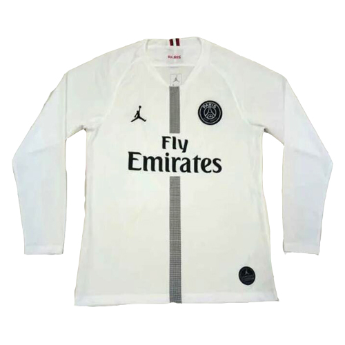 brand new 54b19 2b695 18-19 PSG JORDAN 3rd Away White Long Sleeve Soccer Jersey Shirt