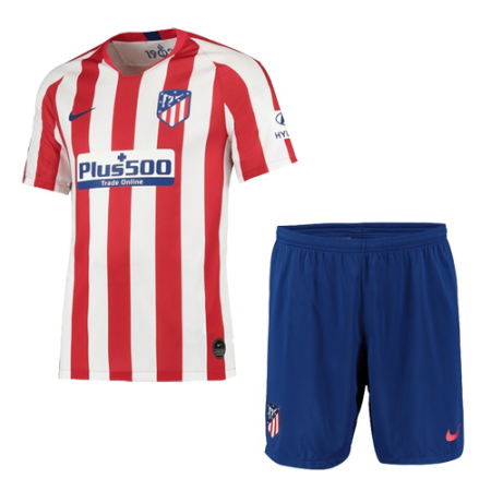 19 20 Atletico Madrid Home Red White Soccer Jerseys Kit Shirt Short