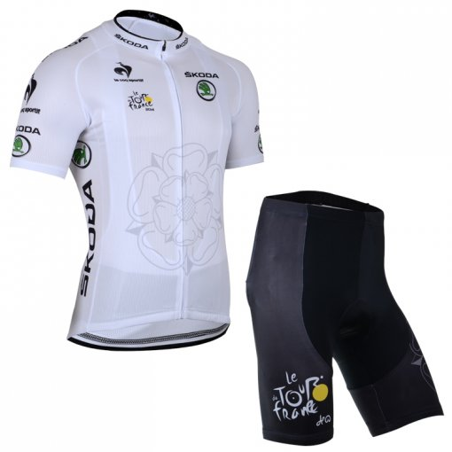 outlet store f5936 34cb1 Skoda short sleeve cycling jersey and short bib pants cycling clothing  ropaci clismo