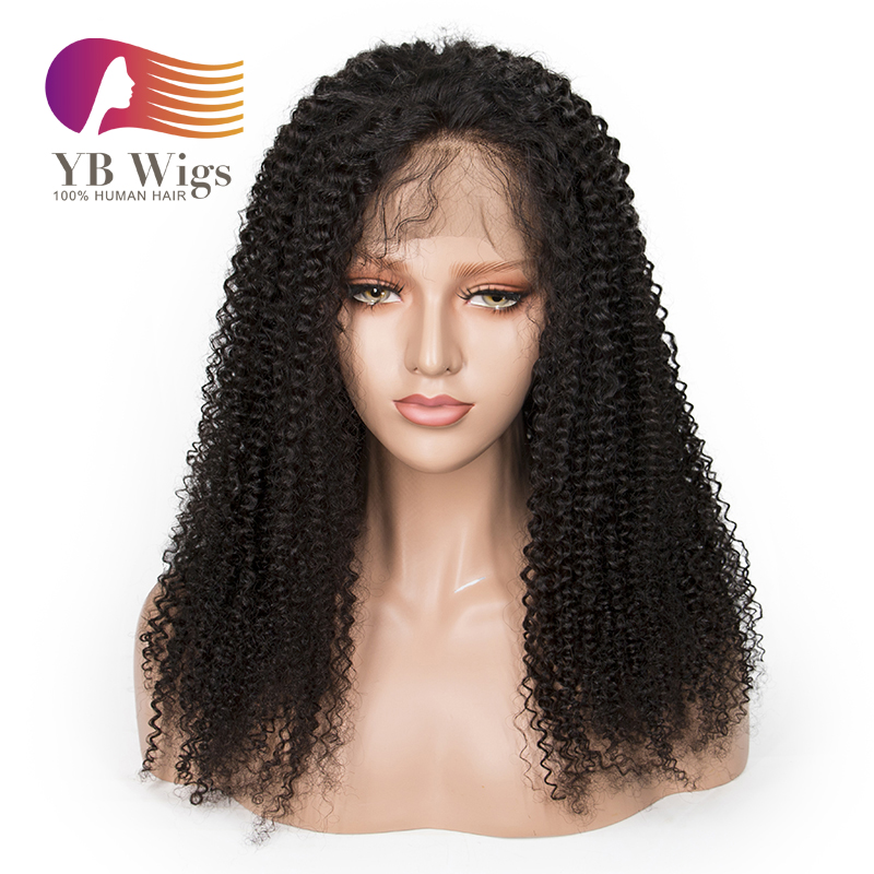 db935eacd US$ 190 - Kinky Curly Full Lace Wigs Brazilian Human Hair Wigs Pre Plucked  With Baby Hair Remy Hair Wig 150% Density Free Shipping # FLKK01 -  www.ybwigs.com