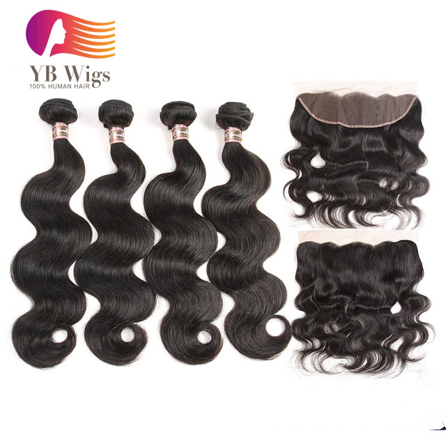 Us 205 Body Wave 4 Bundles With Closure Brazilian Hair Weave Hair