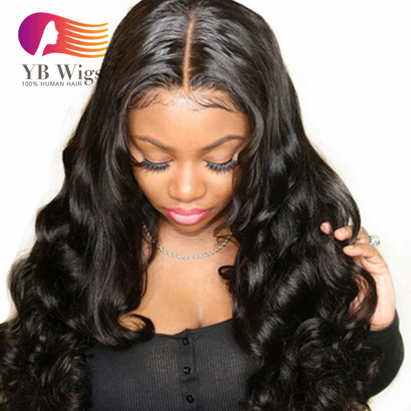 cbe4b8496 US$ 186 - 150% Density 360 Lace Frontal Wig 6 Inch Parting Pre Plucked  Brazilian Body Wave 360 Lace Front Human Hair Wigs For Black Women With  Baby Hair ...