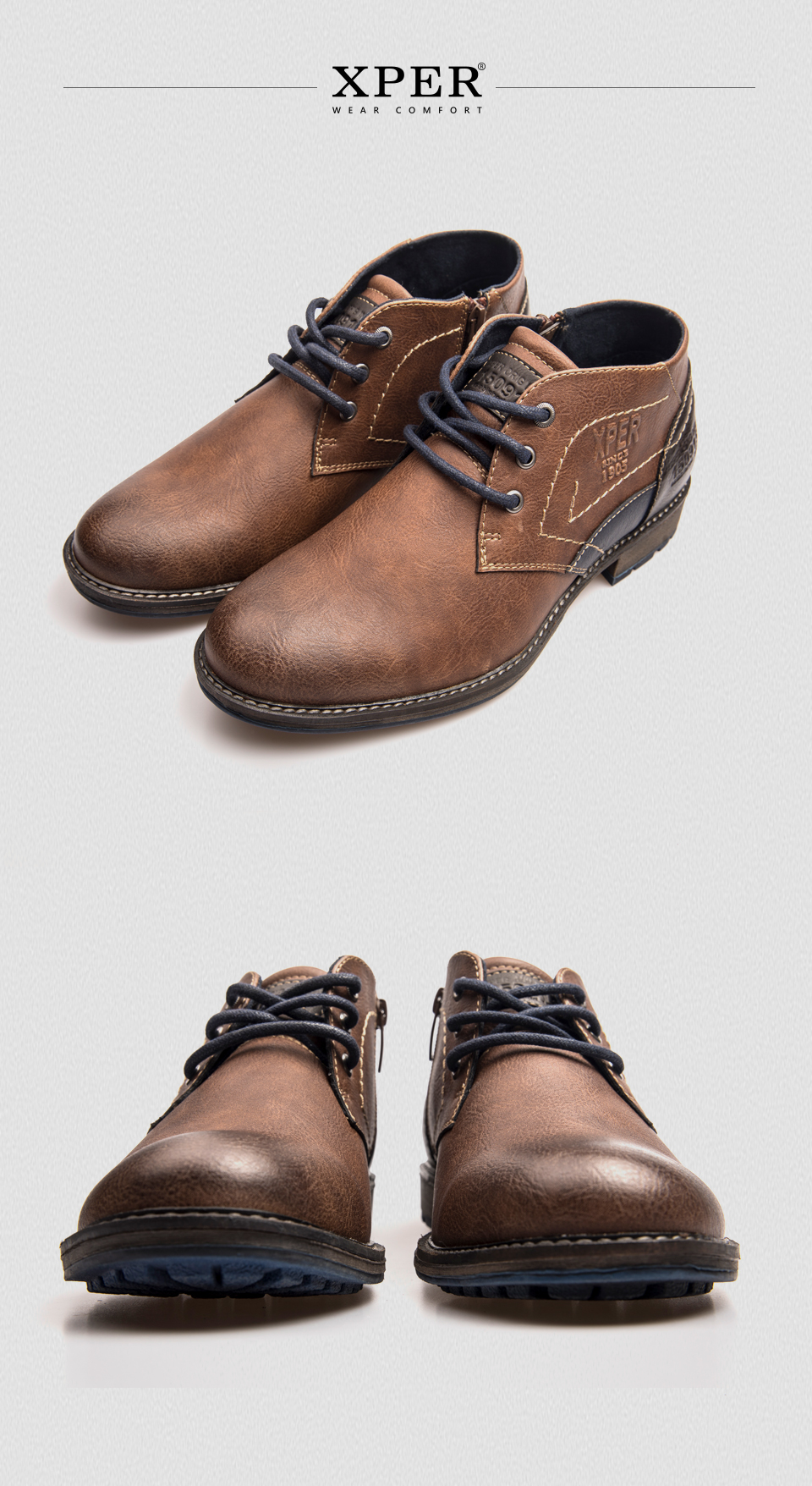841caceadc6f9 US$ 72.78 - XPER Autumn Winter Men Ankle Boots Fashion Retro Shoes ...
