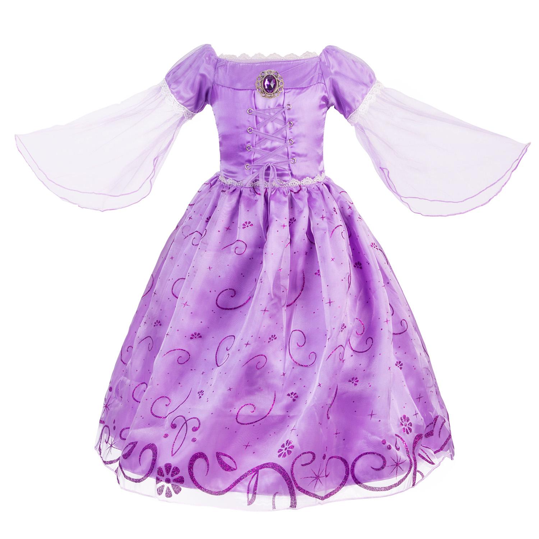 Little Girls Princess Rapunzel Costume Mesh Sleeve Party Dress Item NO PD-9193  sc 1 st  PrincessDressy & US$ 19.99 - Little Girls Princess Rapunzel Costume Mesh Sleeve Party ...