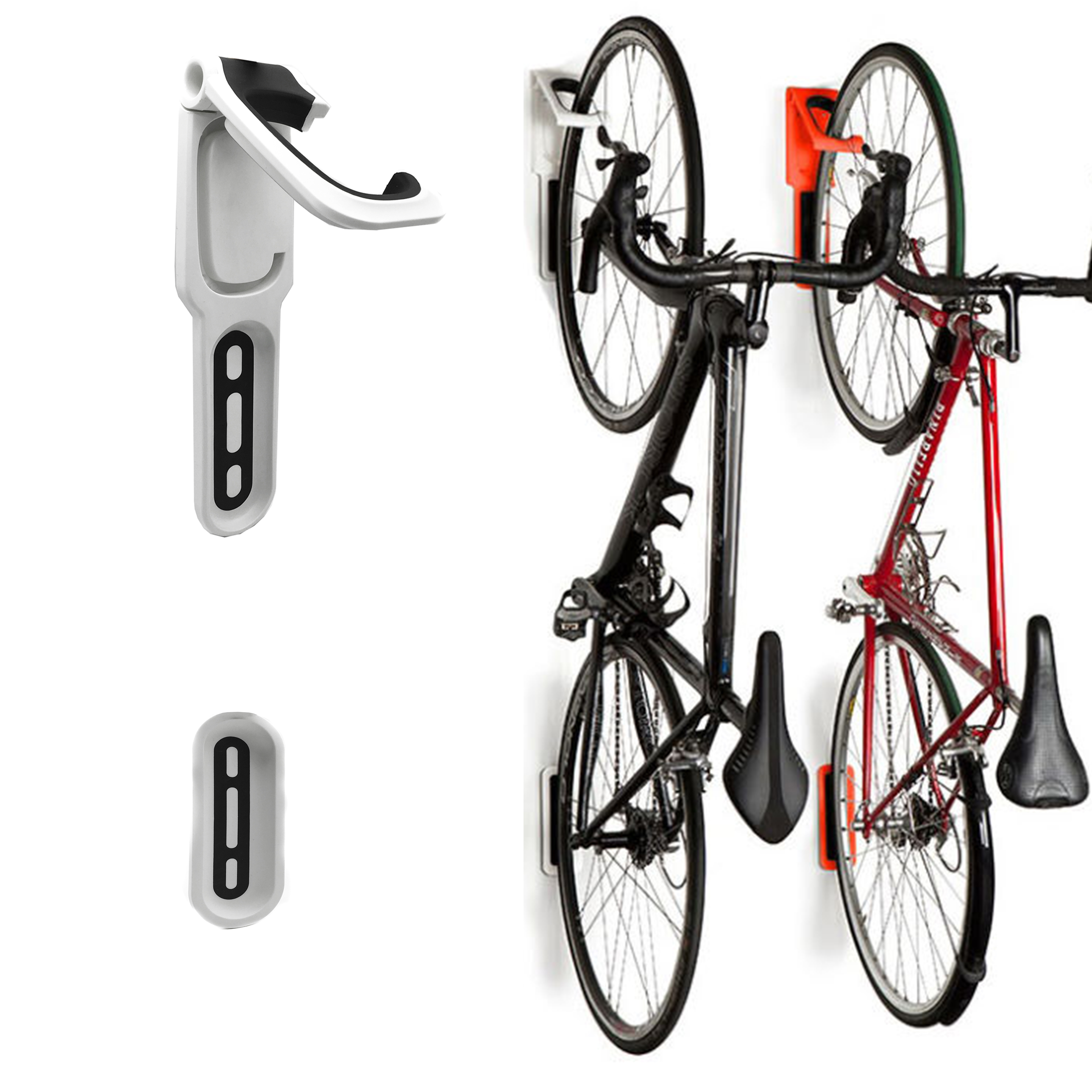 Reliancer 4 Color Foldable Vertical Bike Rack Wall Mounted Bicycle