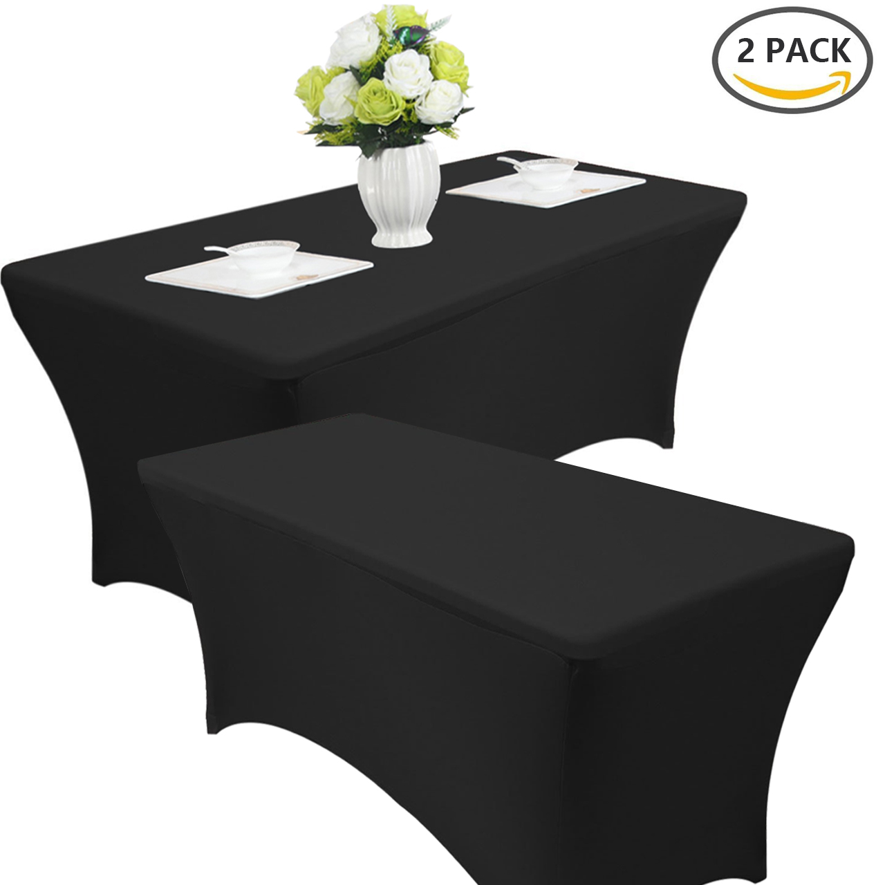 6ft Spandex Fitted Stretch Tablecloth Rectangular Table Cover Elastic Protector
