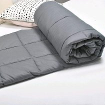 Reliancer Weighted Blanket Premium Cotton & Glass Beads Heavy Gravity Blanket 2.0 Great Sleep Therapy with Anxiety Autism ADHD Insomnia or Stress Fits Queen\King Bed