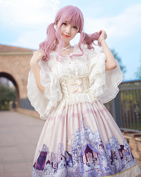 ca5d43c2eb MILU FOREST~Sleeping beauty high waist Lolita skirt Item NO  mif-017