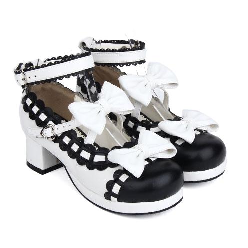 bb610596d76d   Angelic imprint Lolita Sweet Shoes Lovely Bowknot Princess Shoes Item NO   9896C