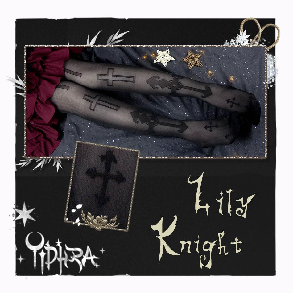 3ac6be554d142 Yidhra~Lily Knight Gothic Lolita High Sock Item NO: yid-35
