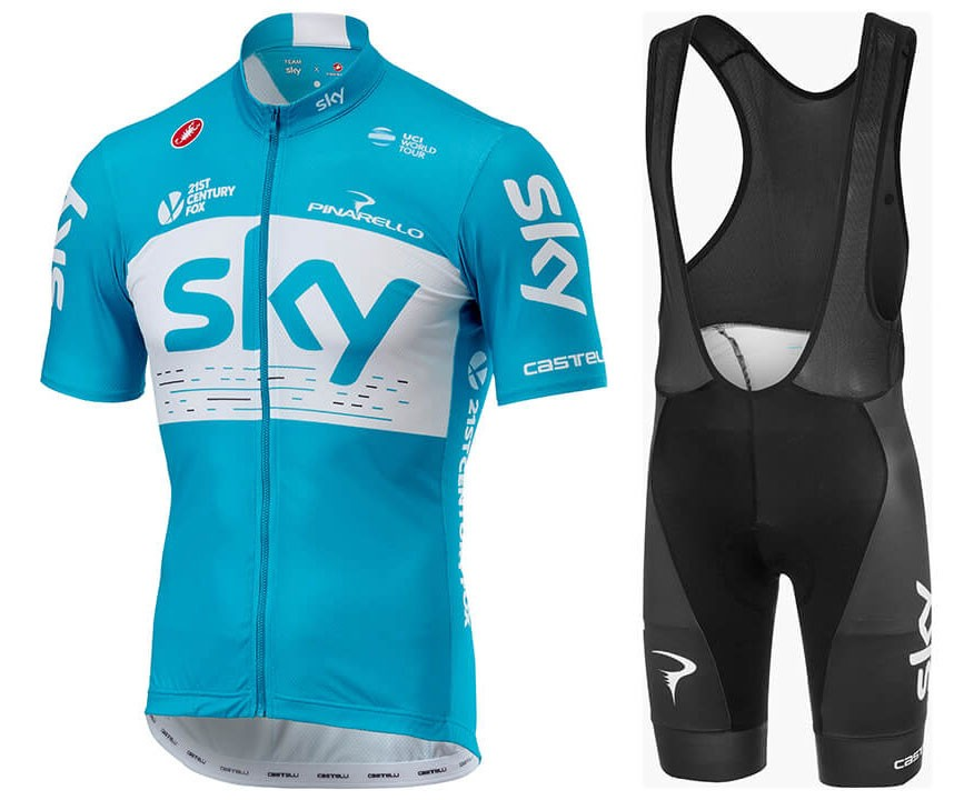 SKY Team Pro 2018 Cycling Bib Set Men Summer Cycling Jersey Short Sleeves  and Bib Shorts Cycling Clothing Bicycle Apparel Item NO  835657 8b7f42a5b