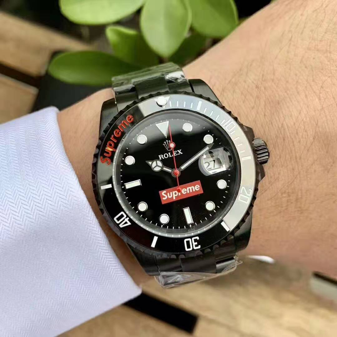 first rate ed281 a257f ロレックス Rolex & Supreme 時計 2色