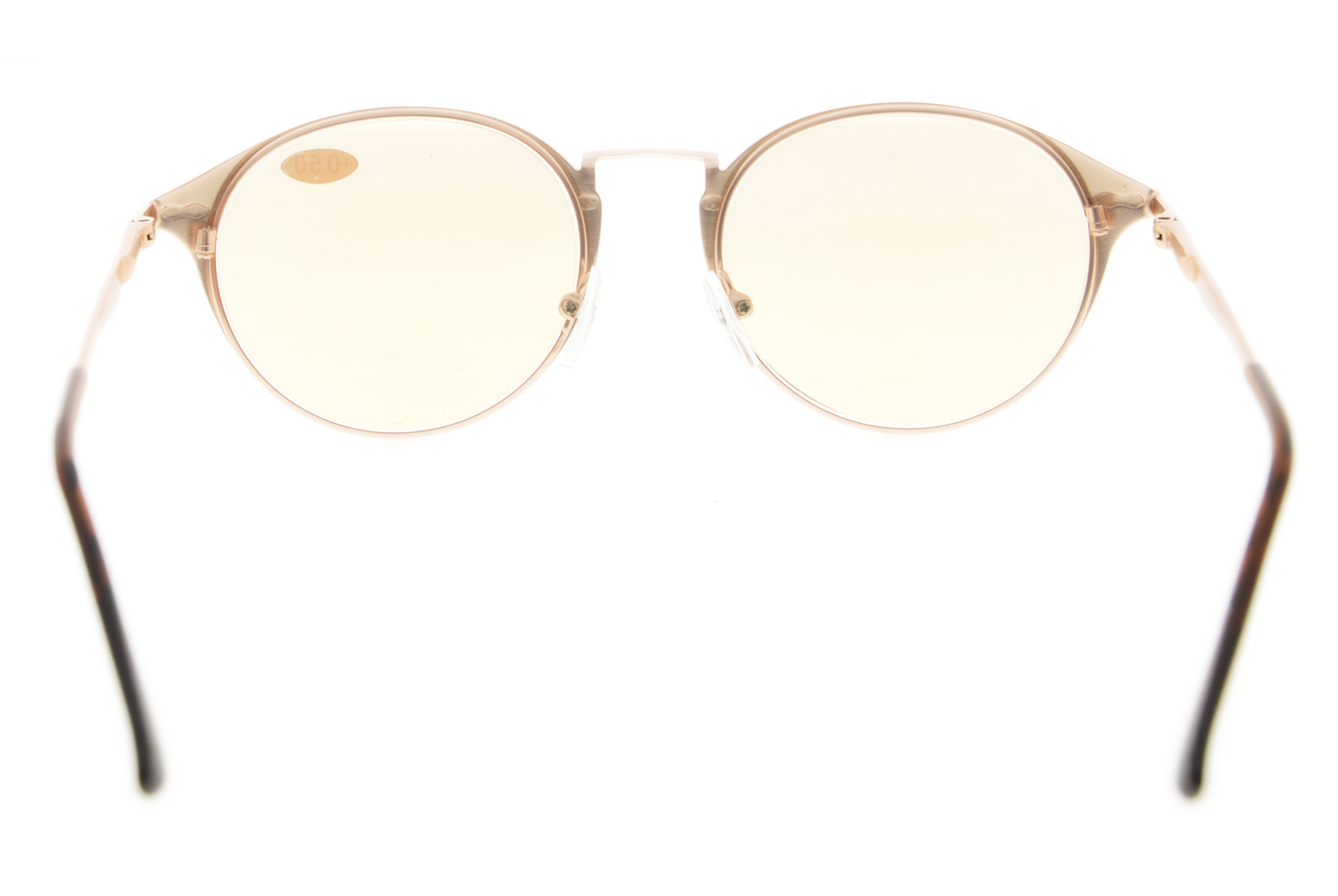 136973068649 Eyekepper Computer Reading Glasses UV Protection Retro Round Tinted Lens  Quality Spring Hinge CG1640