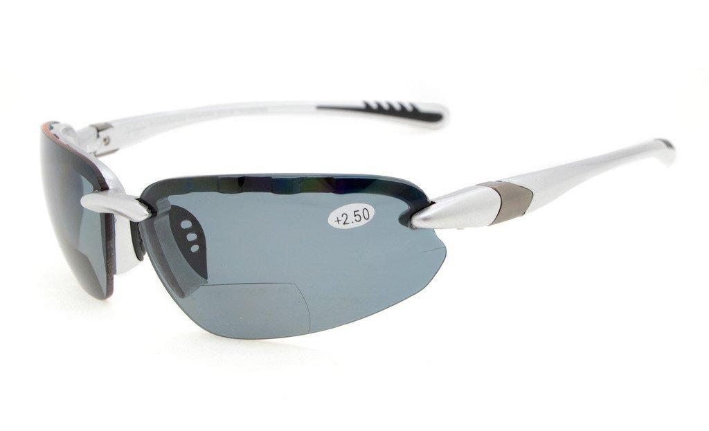 8d6285387f Eyekepper Bifocal Sunglasses UV400 Protection Quality Unbreakble TR90 Frame  Half-rimless Women Men TH6154-Bifocal