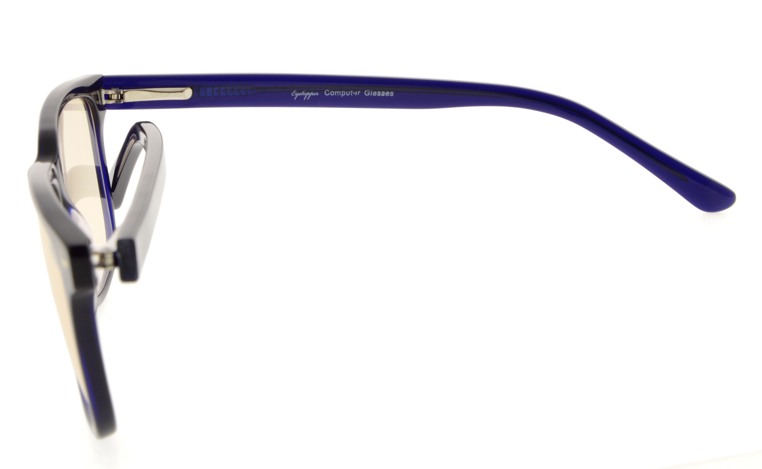 b253d7c01b Eyekepper Computer Reading Glasses UV Protection Anti Blue Light with RX-Able  Acetate Frame Amber Tinted Lens GX002