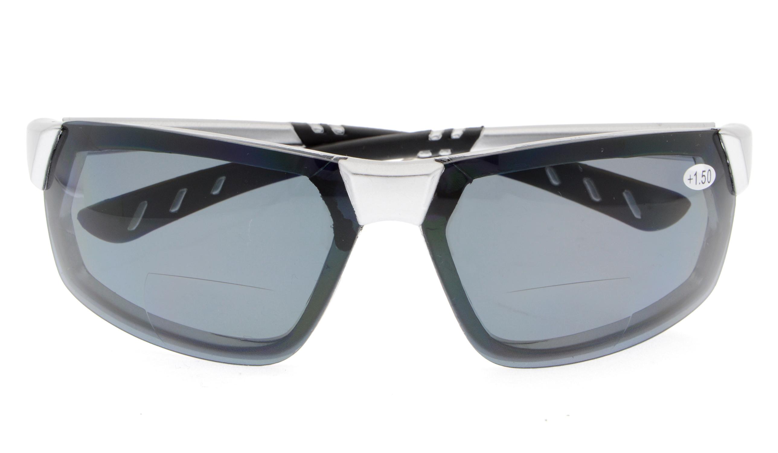 2f0ddc8e47 Eyekepper Bifocal Sunglasses UV400 Quality TR90 Frame Tinted Lens Sun  Readers Women Men TH6157-Bifocal