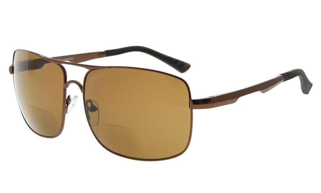 1f59d57dd4f Bifocal Sunglasses Polarized UV Protection Pilot Style Frame Tinted Lens Sun  Readers PGSG804-Bifocal Item NO  PGSG804-Bifocal
