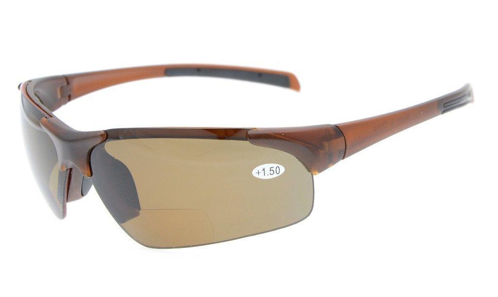 b03ff8e1205 Eyekepper Bifocal Sunglasses UV400 Protection Polarized Lens Quality TR90  Frame Half-rim TH6186PGSG