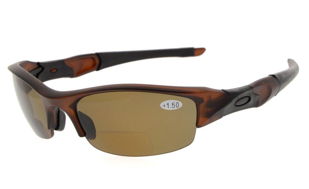 18ec1ed833 Eyekepper Bifocal Sunglasses Polarized Tinted Lens Quality TR90 Frame  Half-rimless Sports Design Men TH6166PGSG