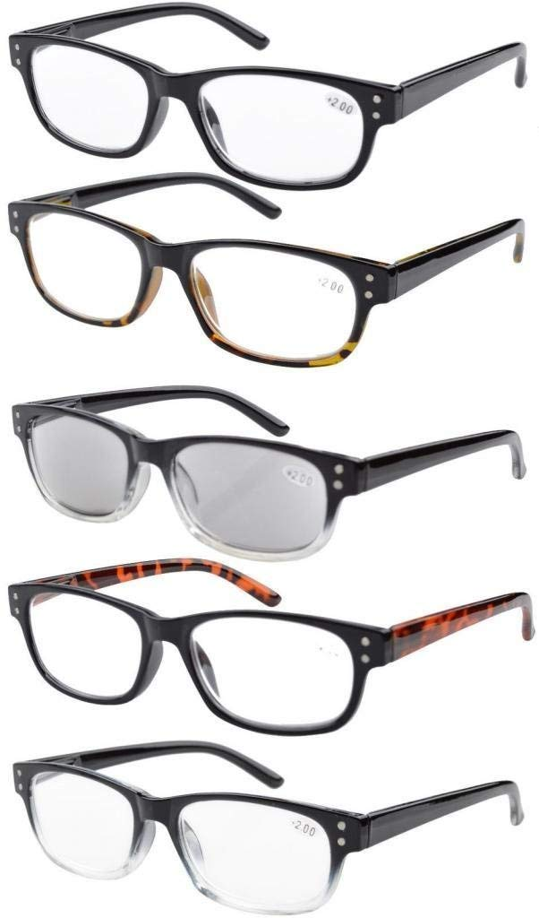ee582185be9 Reading Glasses Quality Spring Hinge 5-pack Includes Sunglasses Readers  Women Men R019 Item NO  R019-5 pairs mix
