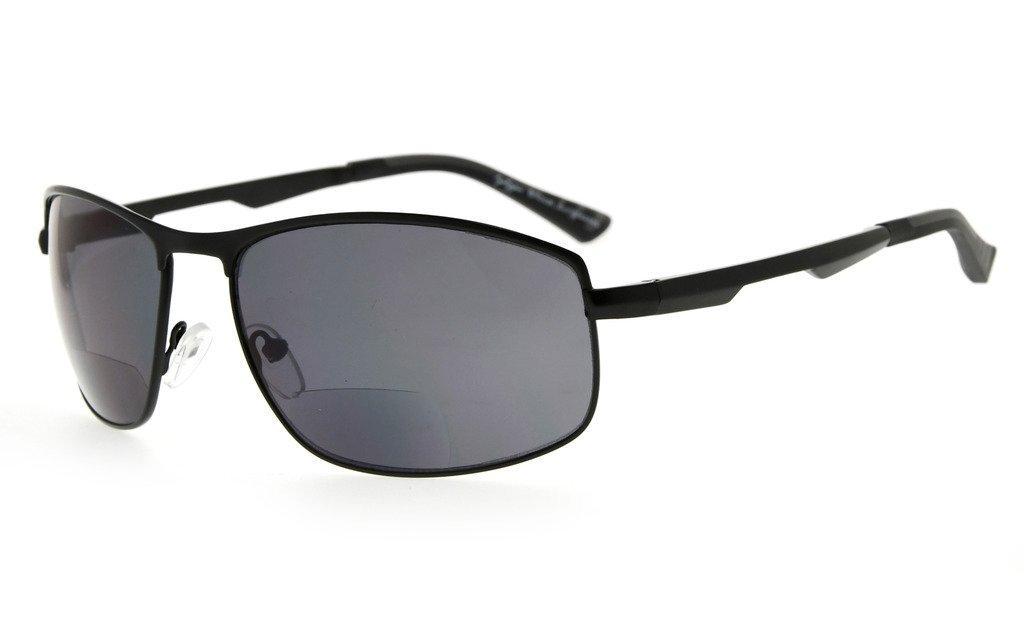 1b93b99959e Eyekepper Bifocal Sunglasses Polarized Anti-UV Large Square Frame Tinted  Lens Sunshine Readers PGSG801-Bifocal