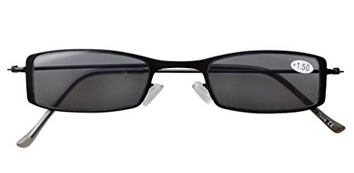 cca788dfa95 Reading Sunglasses Lightweight Stainless Steel Frame Half-eye Style for Sun  Readers R15005 Item NO  R15005