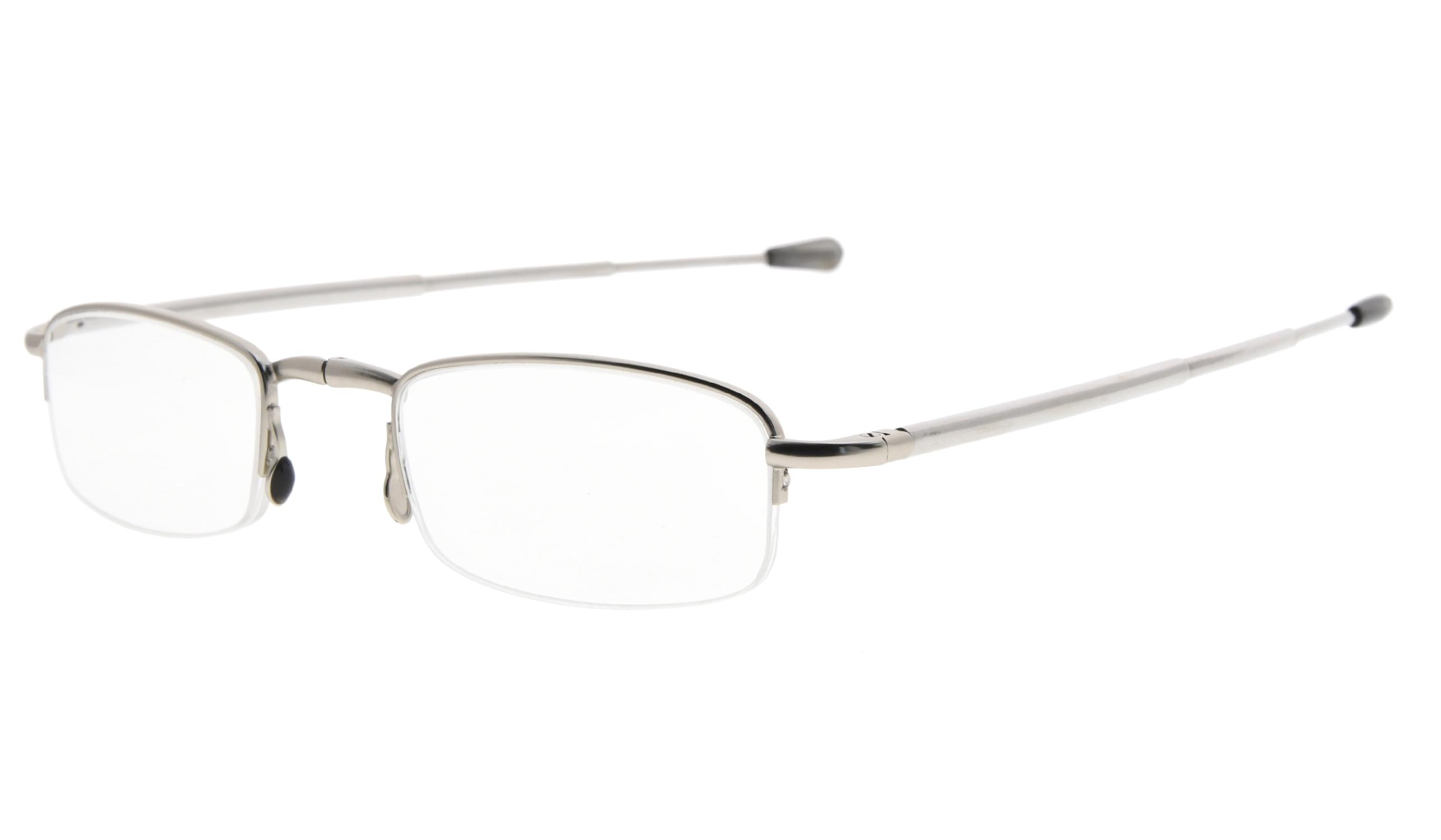0f9e9952ddf Eyekepper Half-rim Folding Reading Glasses Fold-up Telescopic Arm Mini  Readers R1710