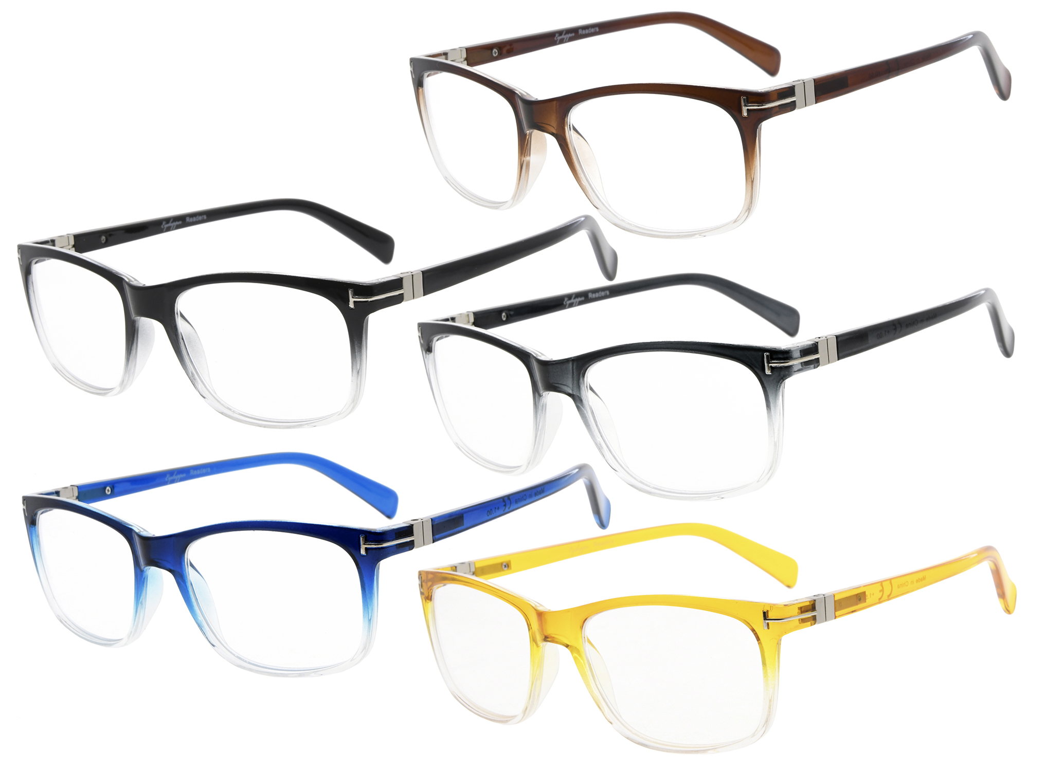 b2f8d6d2e9 Reading Glasses 5-pack Fashion Retro Square Lens Readers Men Women R150 Item  NO  R150-5pcs-Mix