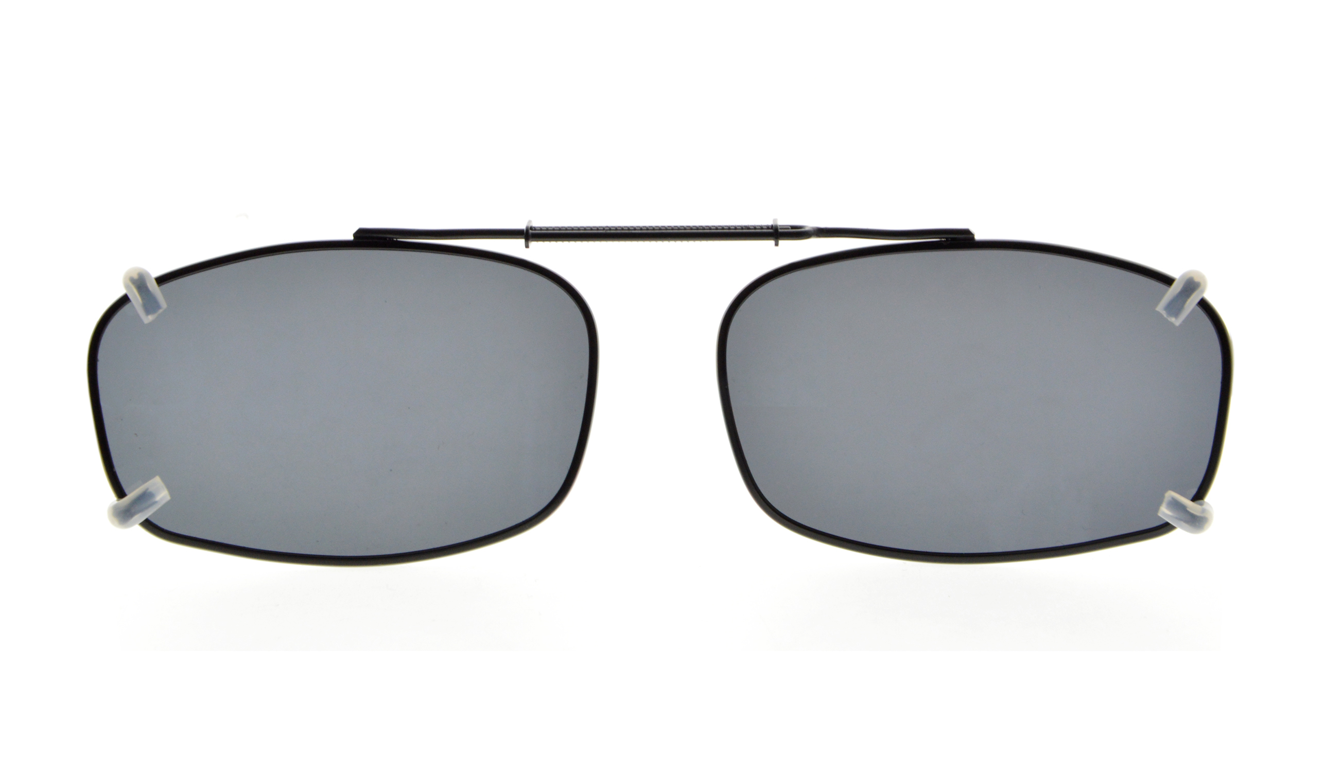 8c19b80d64 Metal Frame Rim Polarized Lens Clip On Sunglasses 2 1 8 x1 5 16 inch  (54×34MM) C65 Item NO  C65