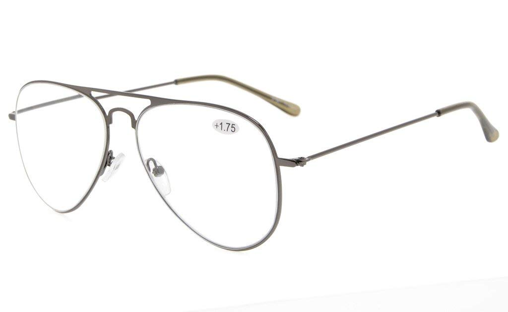a474f46224a Eyekepper Stainless Steel Frame Pilot Style Reading Glasses RS15018
