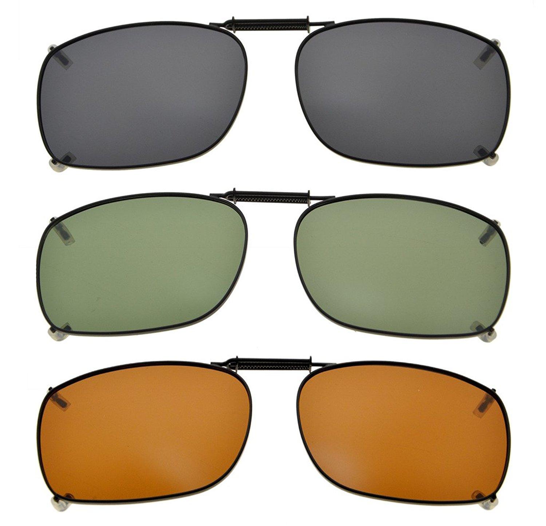 8e61a5f53d4 3-pack Clip-on Polarized Sunglasses 2 1 4×1 1 2 inch (54x38MM) C78-3pcs-Mix  Item NO  C78-3pcs-Mix